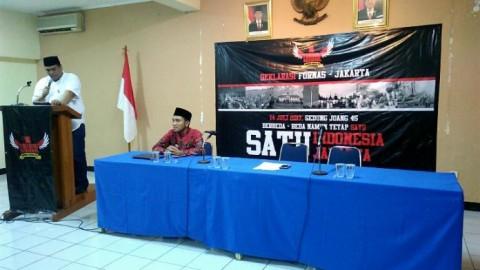 Forum Nasional Bhinneka Tunggal Mengadakan Deklarasi Sekaligus Pernyataan Sikap Terhadap Dinamika Ormas Jakarta