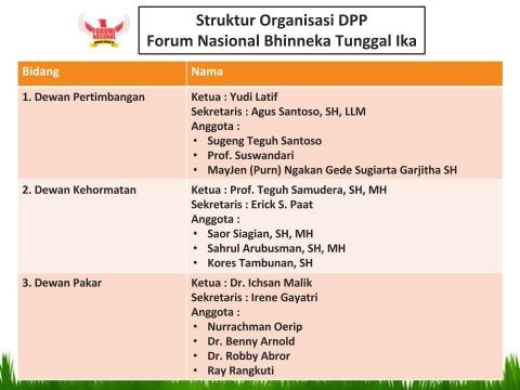 Struktur Organisasi DPP