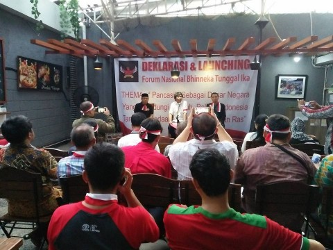 Para Mantan Aktivis 98 Deklarasi Fornas Bhineka Tunggal Ika