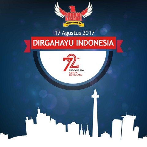 DIRGAHAYU INDONESIA 72th